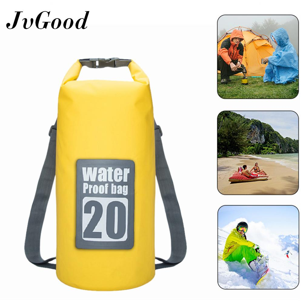 Jvgood Waterproof Sport Dry Bag Roll Top Detachable Shoulder Straps Storage Bag Canoeing, Beach, Boating, Hiking, Camping And Fishing 20l By Jvgood.