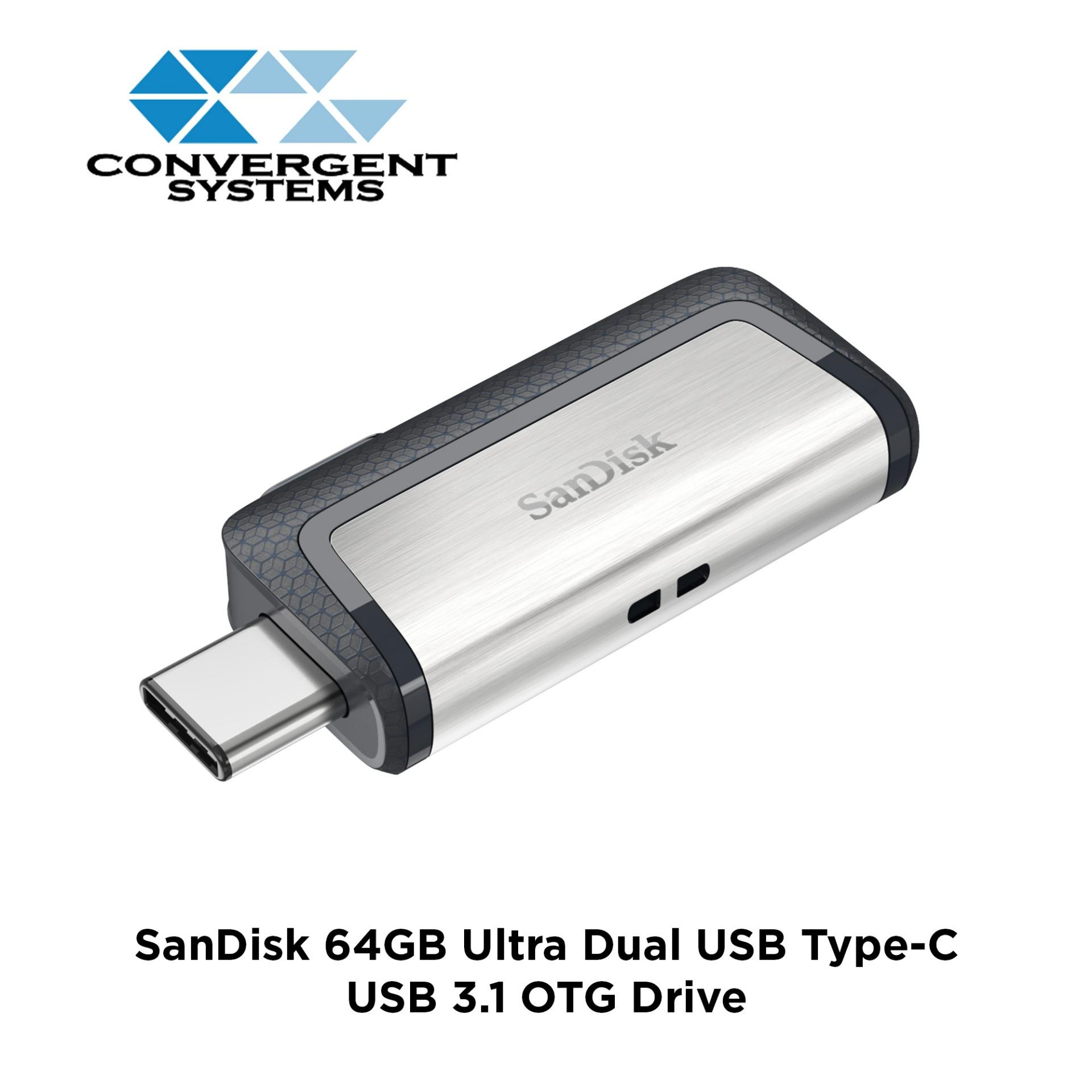 Sandisk Ultra Dual Usb 64gb Type-C Usb 3.1 Otg Drive Sdddc2 By Convergent Systems.