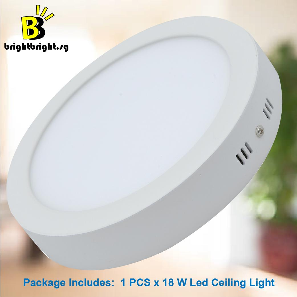 Buy home ceiling lights home decor lazada brightbright 1 x 18w led ceiling light purewhite 6000k mozeypictures Gallery