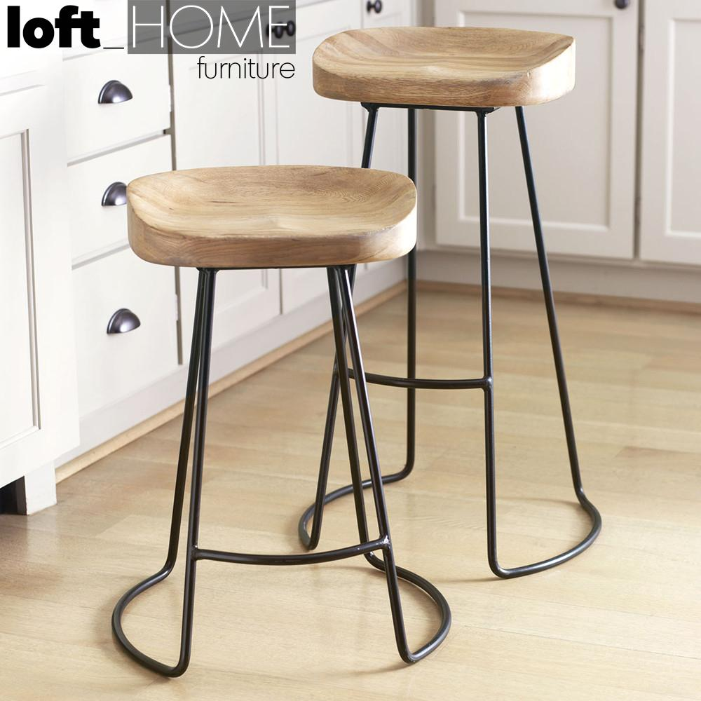 Bar Stool - Country / Solid Wood / Customized Size & Colour