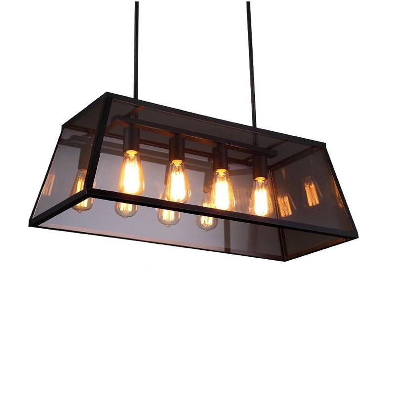 Industrial Pendant Light, 4PCS Edison bulbs included.