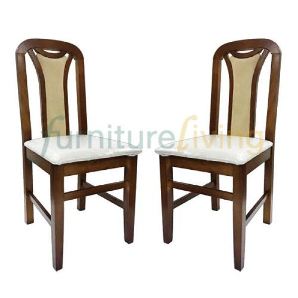 Furniture Living Solid Wood Dining Chair (Cherry) Bundle Deal