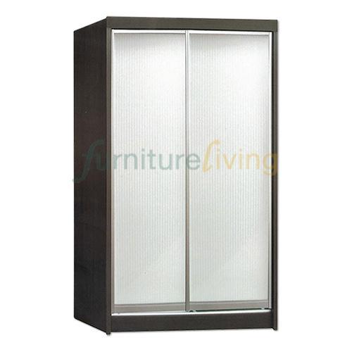 Furniture Living Sliding Door Wardrobe (Walnut)