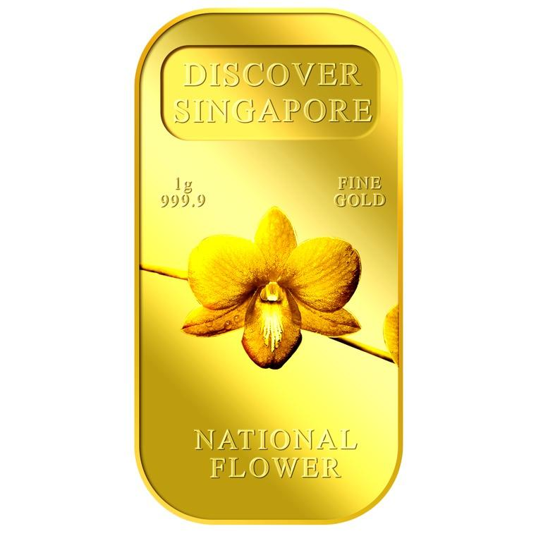 Puregold Singapore 1G National Flower Gold Bar 999 9 Singapore