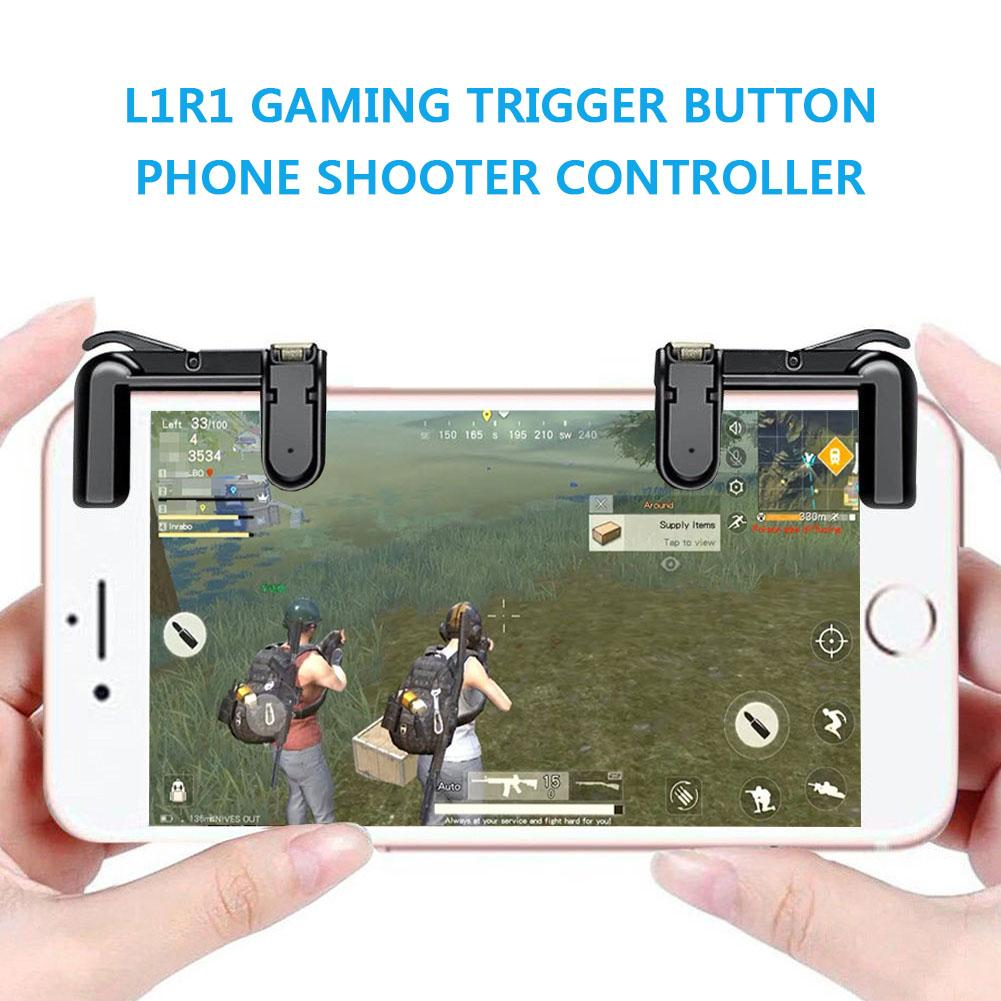 Sg Seller,buy 1 Get 1 Free,phone Gamepad Trigger Fire Button Aim Key L1r1 Shooter Controller Pubg V3.0 Fut1 For Games On Iphone And Android By Wripples.