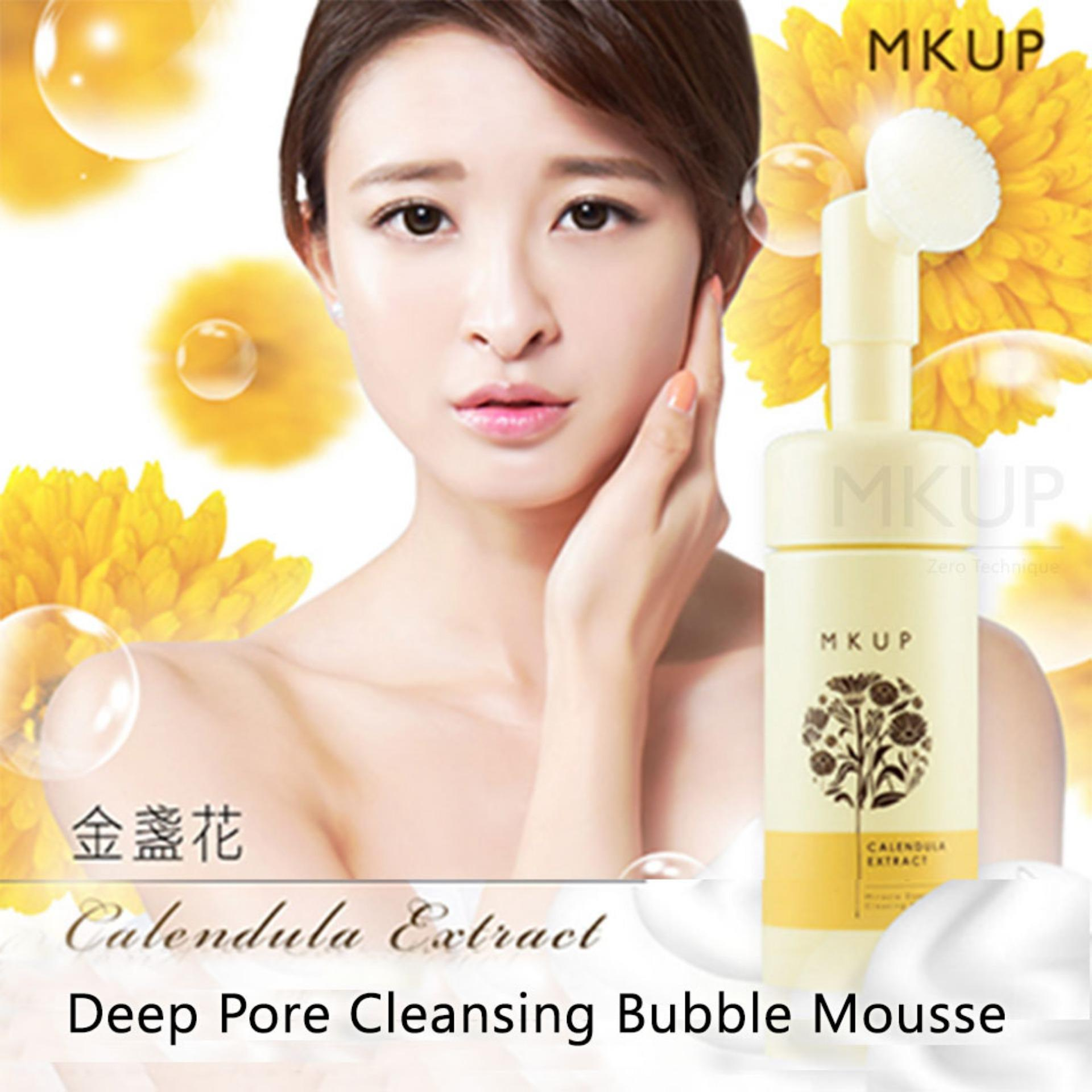 Price Comparisons Mkup® Calendula Extract Deep Pore Cleansing Bubble Mousse Cleanser Makeup Remover