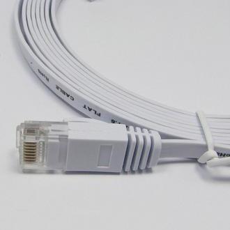 2M Gigabyte UTP Direct LAN CAT6 CAT 6 Flat UTP Ethernet Network Cable RJ45 1GBase-T 10/100/1000 Base-T for Modem / Router / LAN / Printer / MAC / Laptop