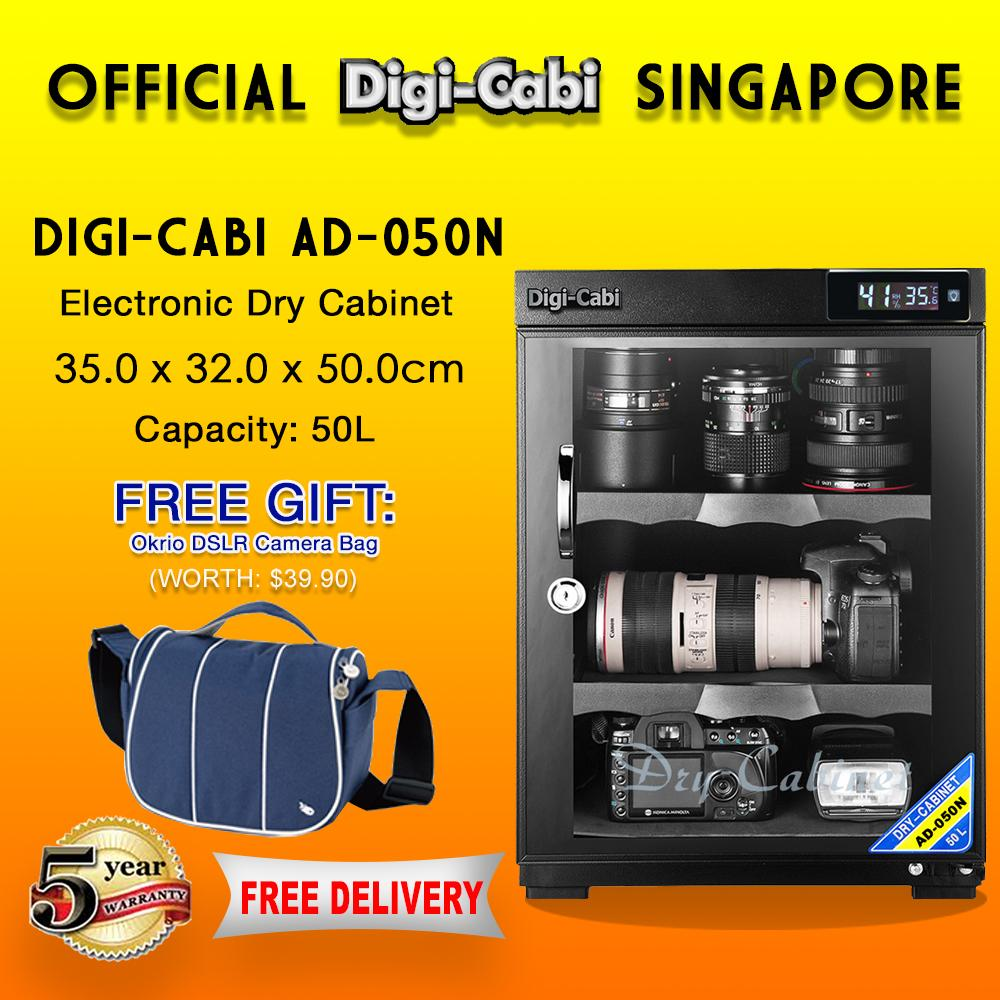 Official Digi Cabi Singapore Ad 050n 50l Electronic Dry Cabinet 5 Years  Warranty