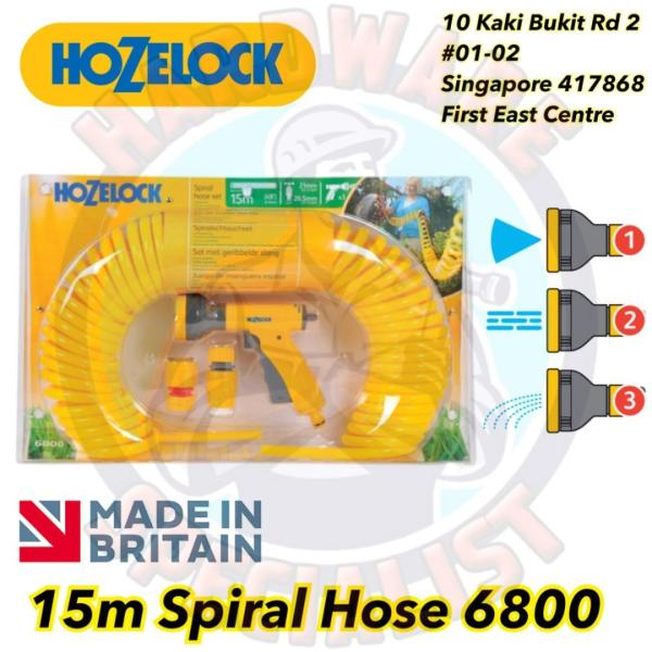 Hozelock 6800 15m Spiral Hose Set