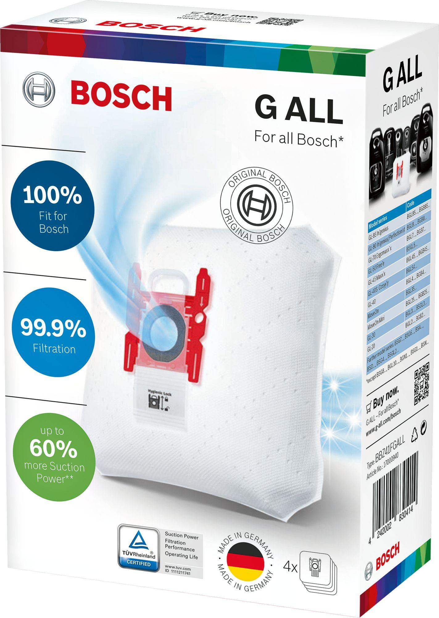 Bosch Vacuum Cleaner Bag PowerProtect Dustbag BBZ41FGALL