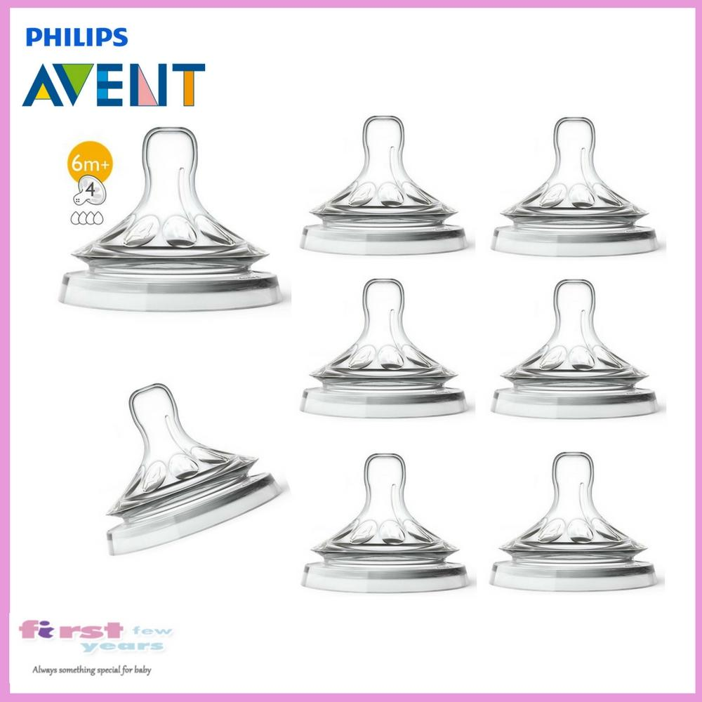 Sale Philips Avent Teat For Natural Bottles Fast Flow 6M X 8Pcs On Singapore
