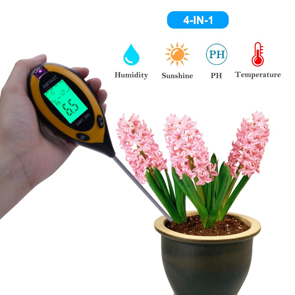 Price Comparisons Of Yieryi 4 In1 Plant Earth Soil Ph Moisture Light Soil Meter Thermometer Temperature Tester Sunlight Tester Garden Plant Soil Survey Tester Kits Instrument Intl