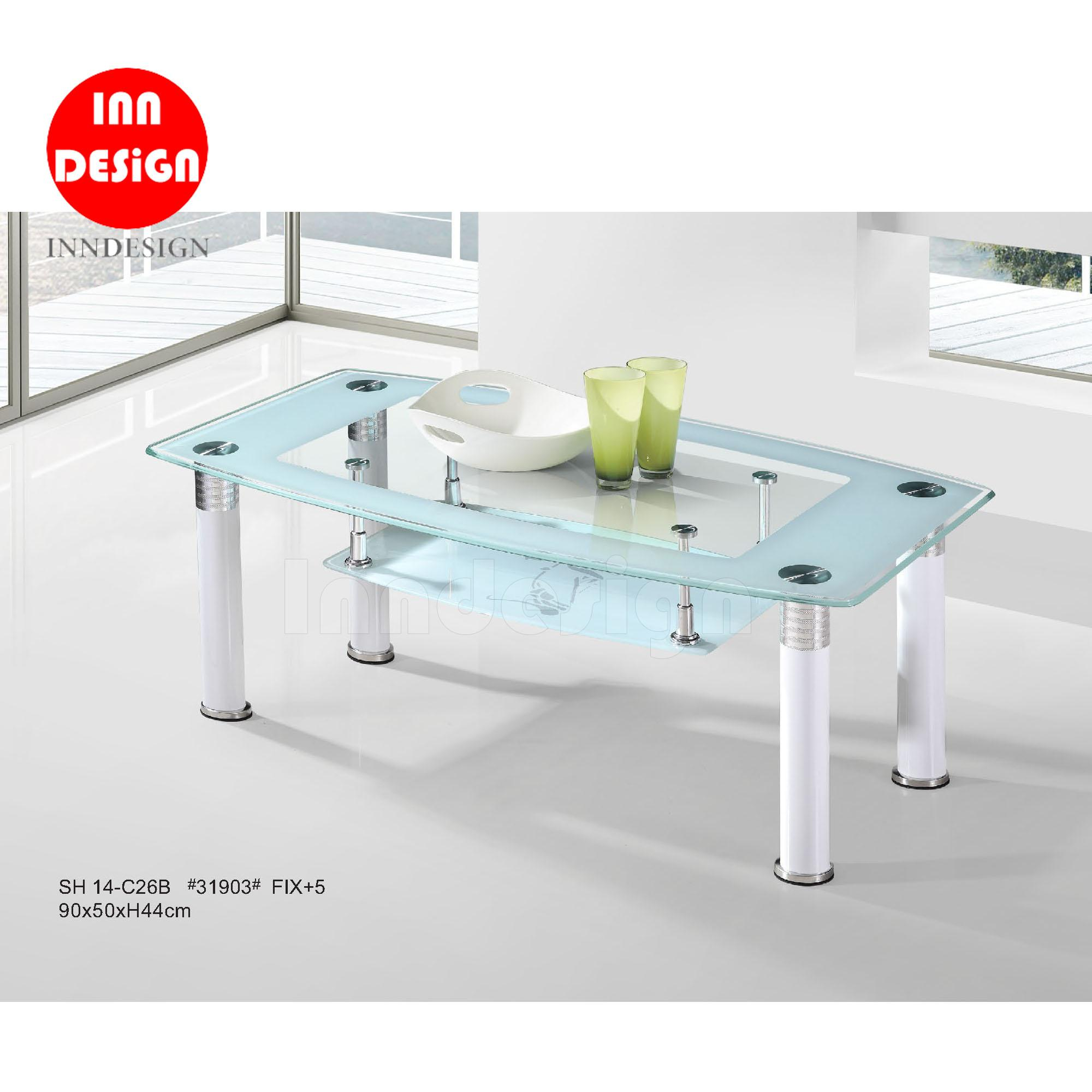 Caryl Tempered Glass Coffee Table