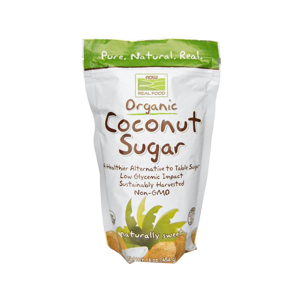 Now Foods, Real Food, Organic Coconut Sugar, 16 Oz (454 G) By Bloom Concept.