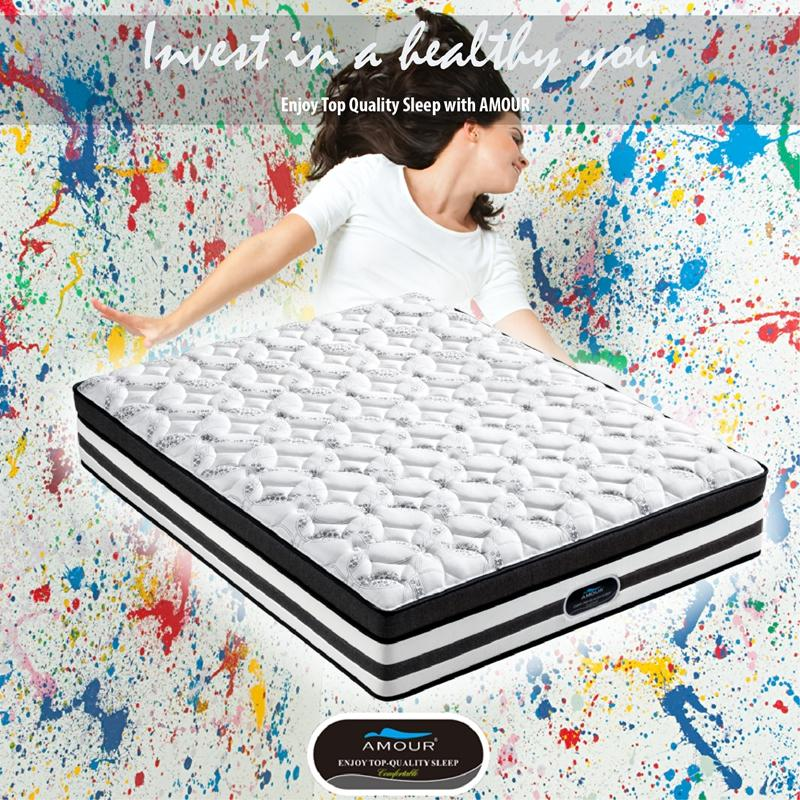 AMOUR THE HEDONIST – POCKET SPRING 13 Inch MATTRESS SINGLE/ SUPER SINGLE / QUEEN / KING SIZE