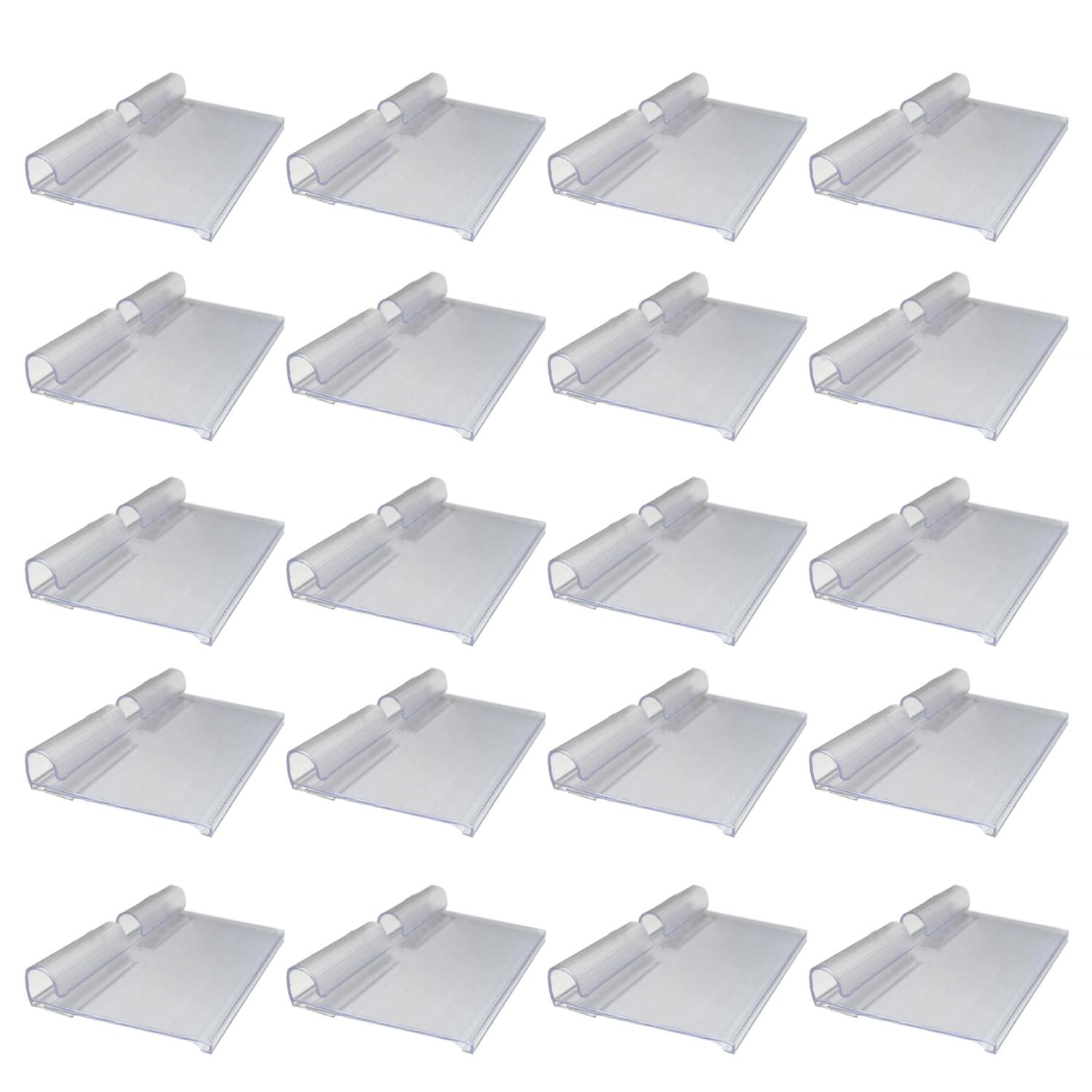 50pcs Translucent Plastic Wire Shelf Price Label Holders Merchandise Sign Display Holder For Shop Office Market By Elek.