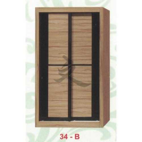 4ft Sliding Door Modular Wardrobe Cabinet Bedroom Customizable