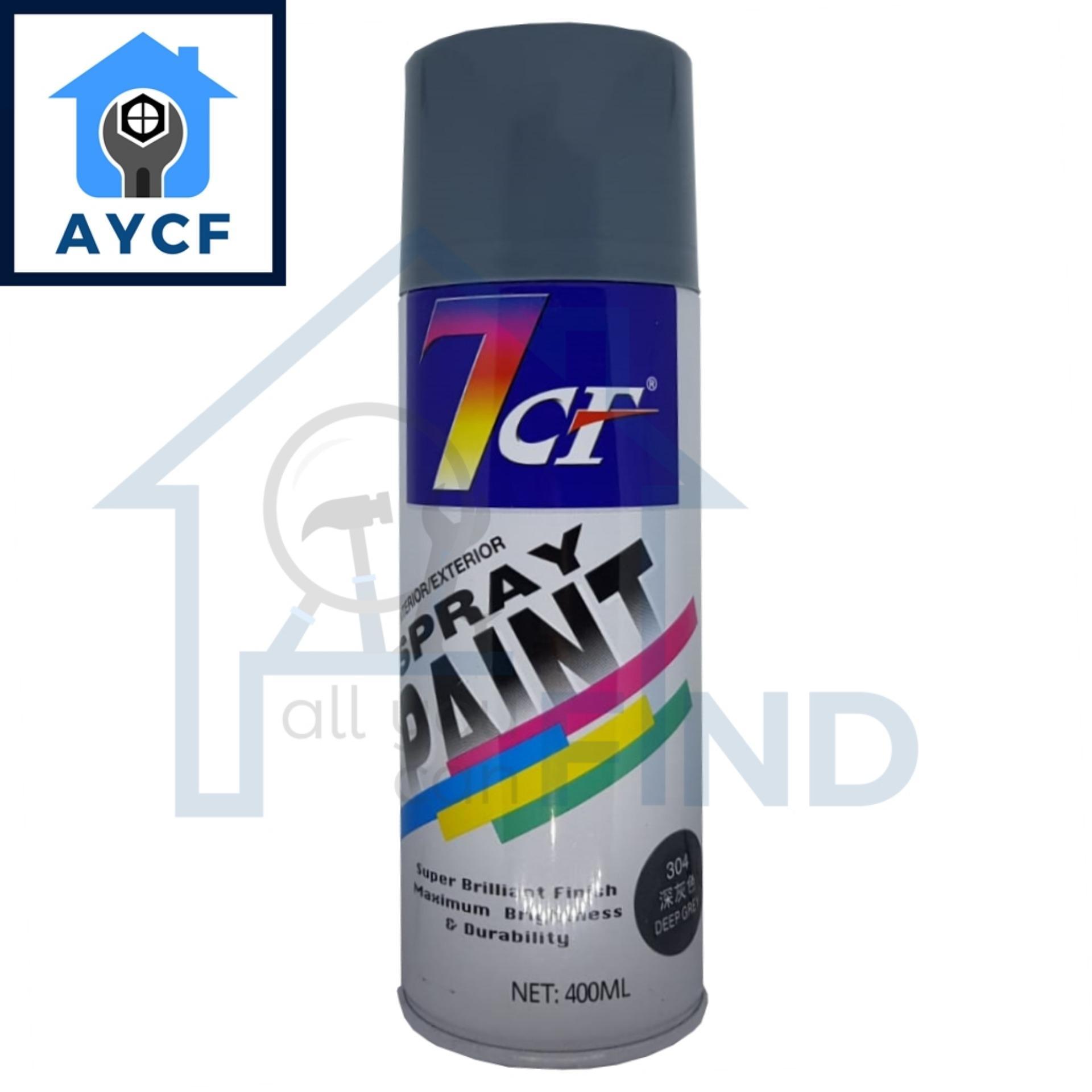 7CF Interior / Exterior Spray Paint 400ml - Deep Grey