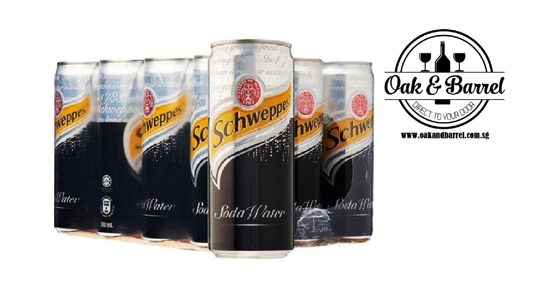 Buy Schweppes Soda Water 24 Cans X 330Ml Singapore