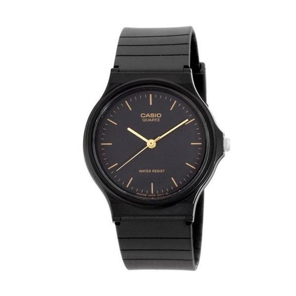 Casio Mq-24-1eldf Unisex Black Silicone Strap Watch Mq-24-1e By Luxolite.