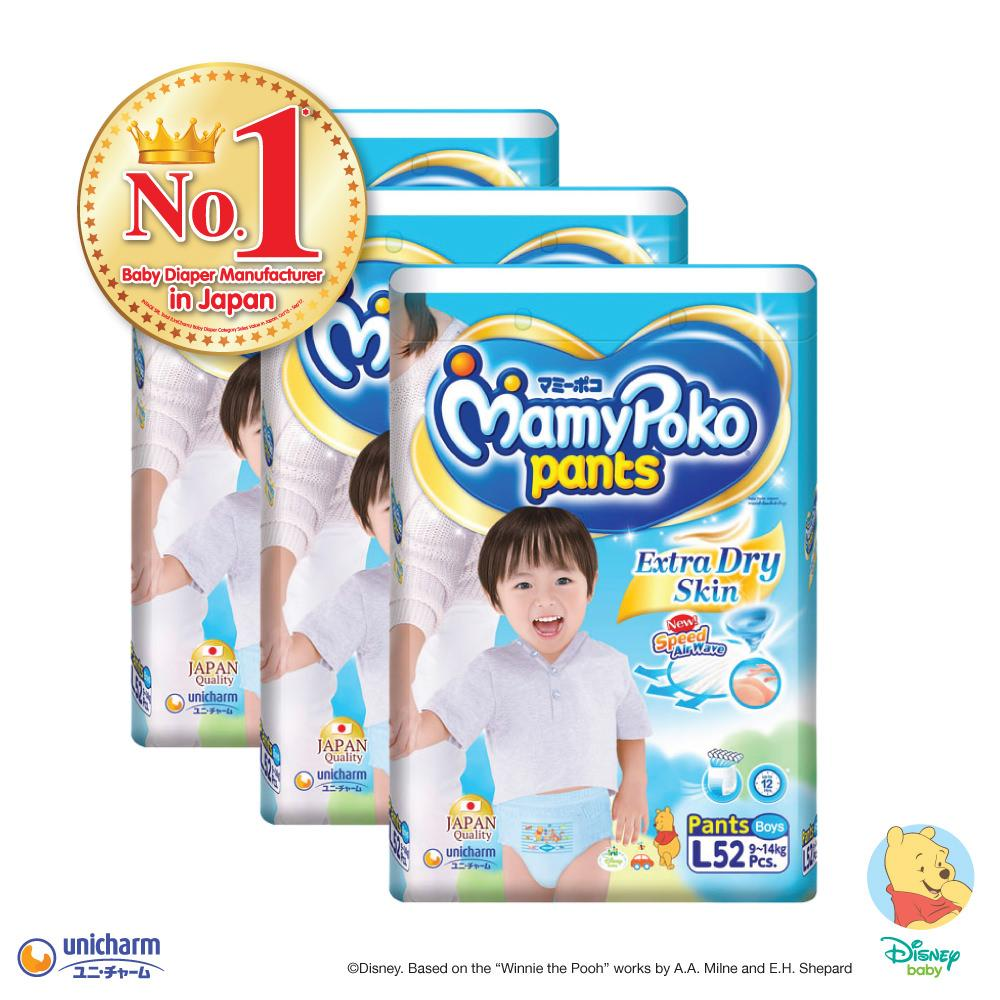 Sale Mamypoko Pants Extra Dry Skin Boy L52 3 Pack Singapore Cheap