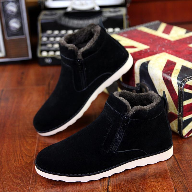 d475d86ac10 Winter Snow Boots Men s Short Boots Korean Style Trend Men s Boots Leisure  Cotton-padded Shoes