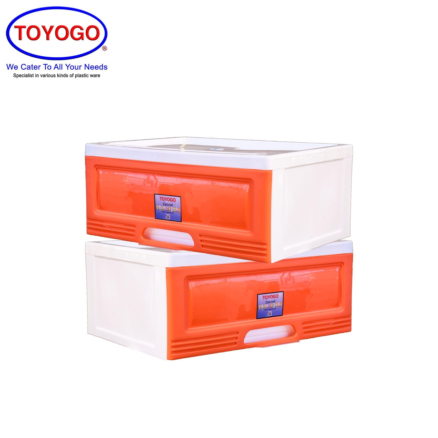 Toyogo Plastic Single Storage Cabinet / Drawer (Bundle of 2) (609)