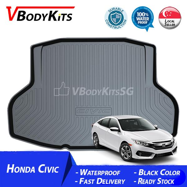 Sale High Quality Honda Civic 2017 18 3D Waterproof Car Bootliner Boot Tray Cargo Tray Trunk Mat Oem On Singapore