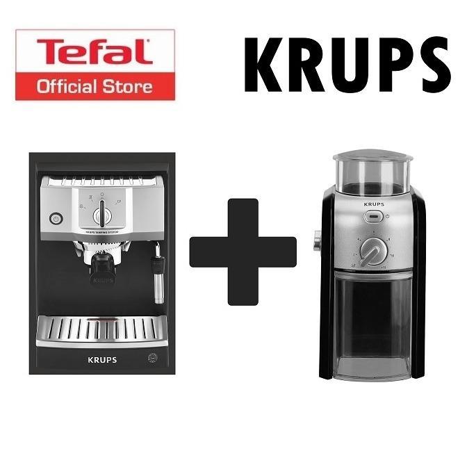 Buying Krups Espresso Pump Machine Grinder Set Xp5620 Gvx231