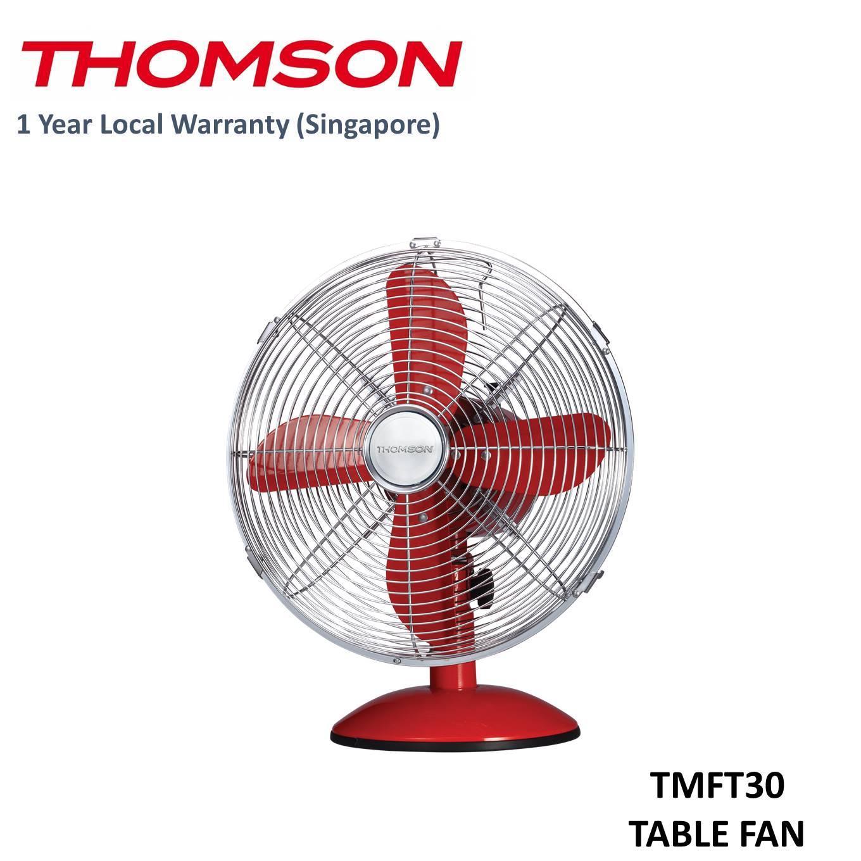 Sale Thomson 12 Retro Table Fan Cream Red On Singapore