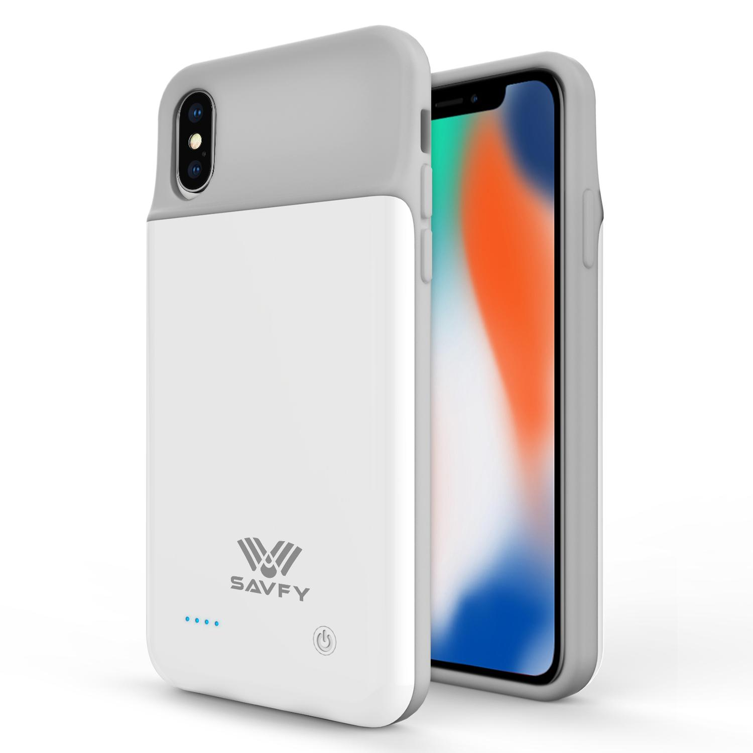 Savfy Apple Iphone X Battery Case 3200mah External Backup Powerbank Charger Case With Free Soft Protective Iphone X Case By Wripples.