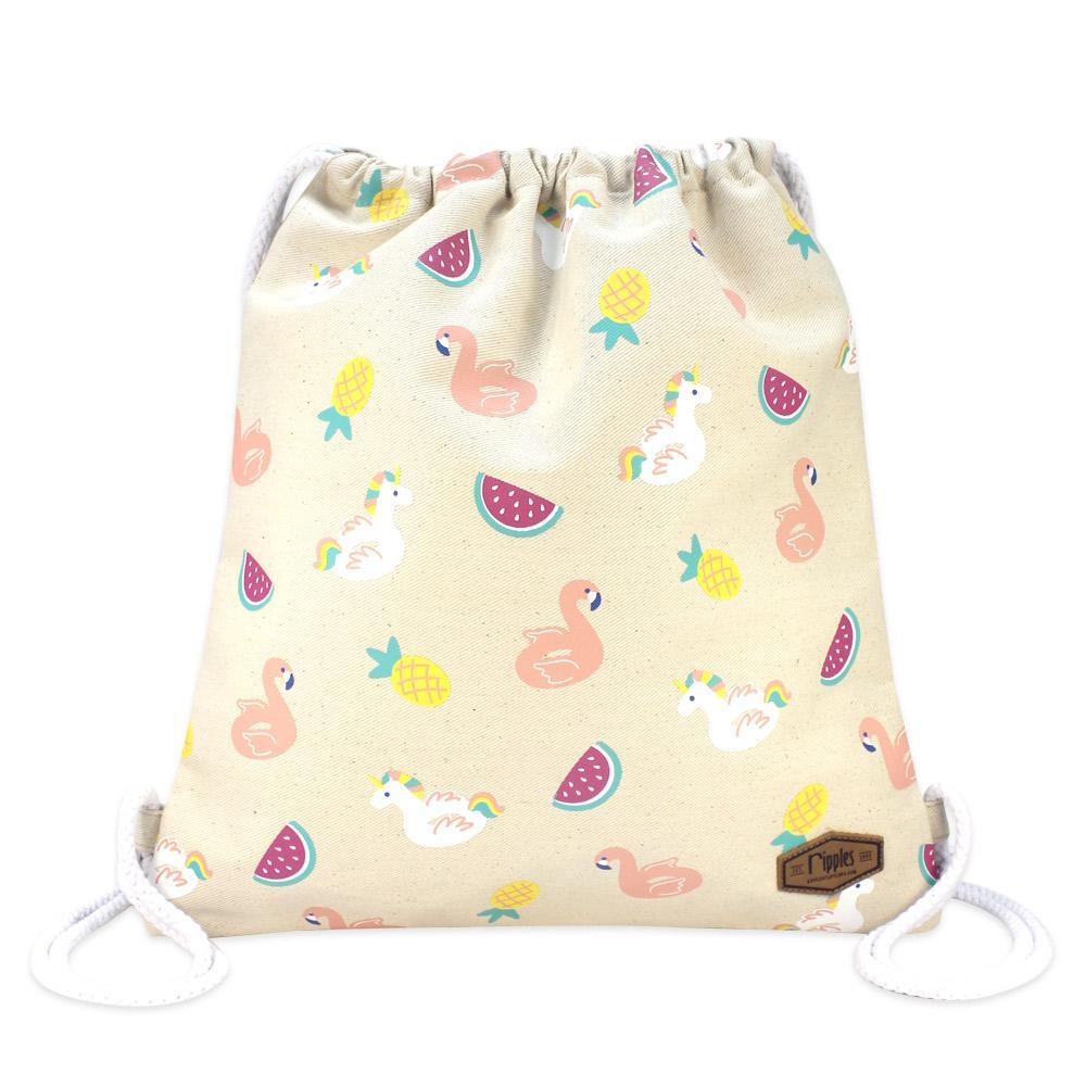 Ripples Summer Floats Drawstring Backpack (Natural) 52de1d0817c79