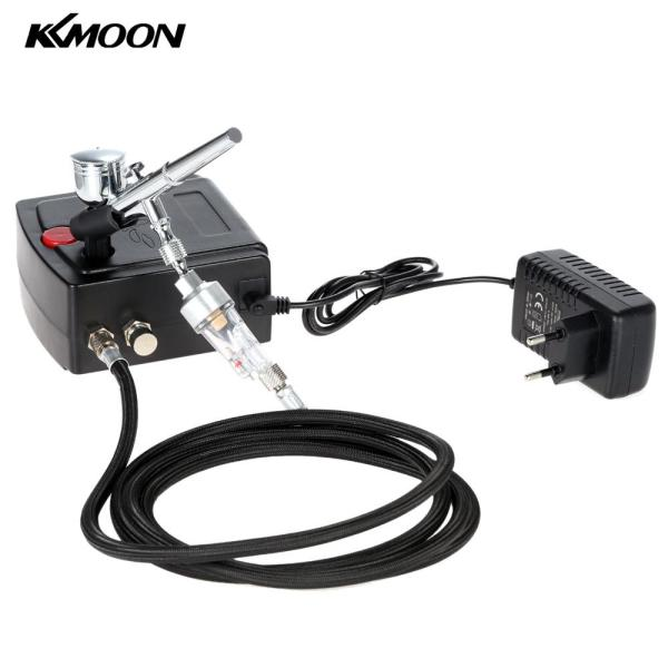 100-250V Professional Gravity Feed Dual Action Airbrush Air Compressor Kit for Art Painting Tattoo Manicure Craft Cake Spray Model Air Brush Nail Tool Set  (EXPORT)