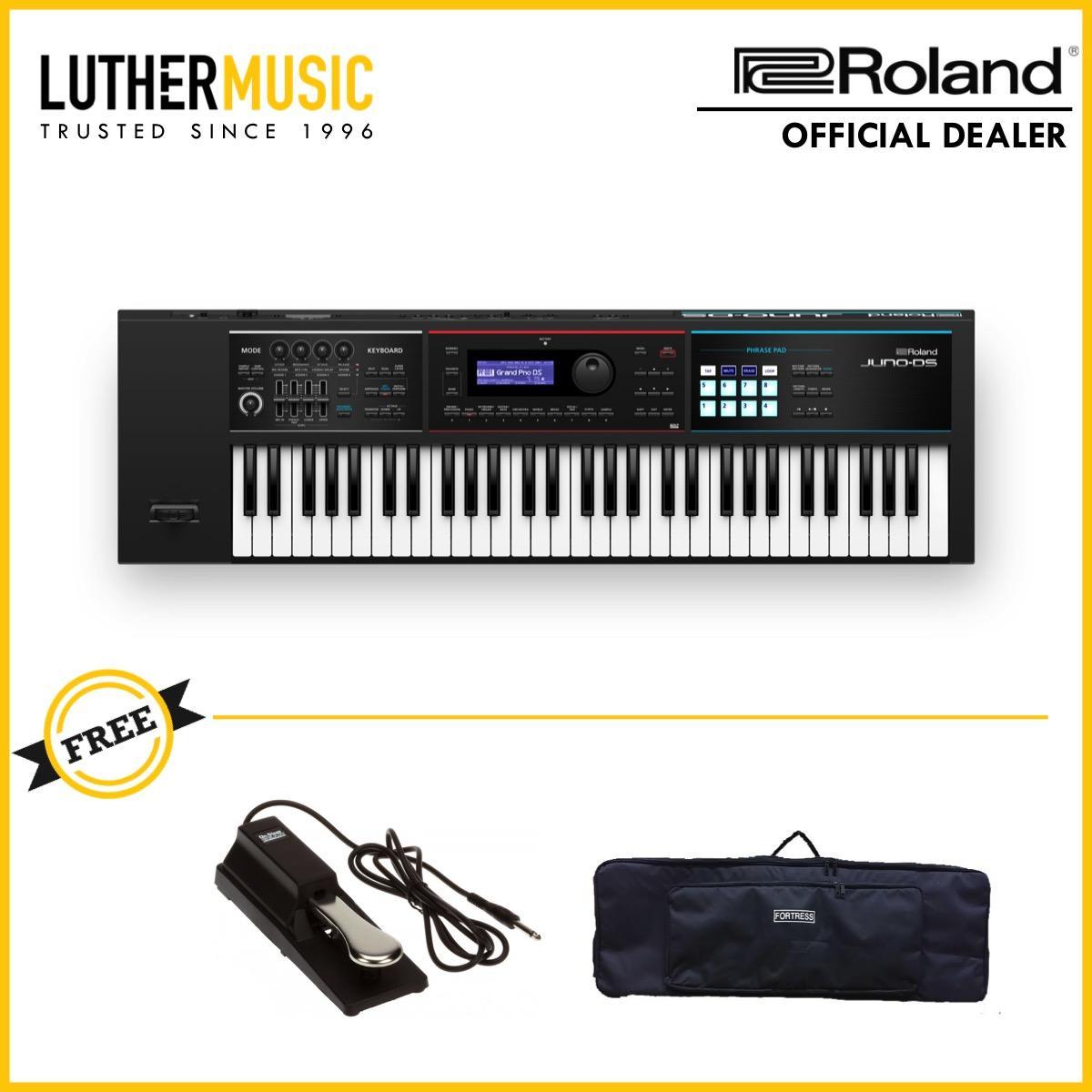[OFFICIAL DEALER] Roland JUNO DS61 61 Key Synthesizer Keyboard Bundle