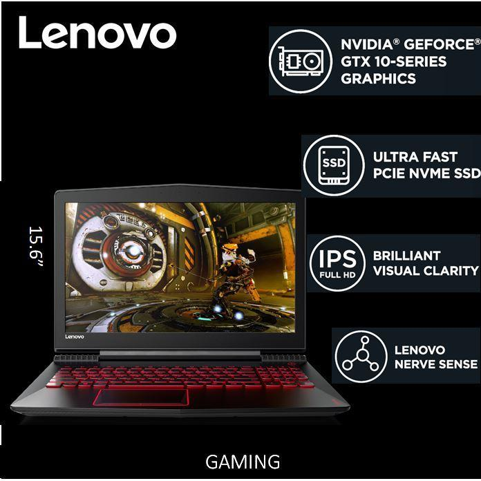 Lenovo Legion Y52015.6 FHDi7-7700HQGTX 1060Black2 Year Local Warranty