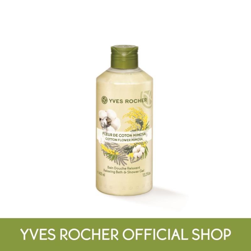 Buy Yves Rocher Relaxing Cotton Flower Mimosa Shower Gel 400ml Singapore