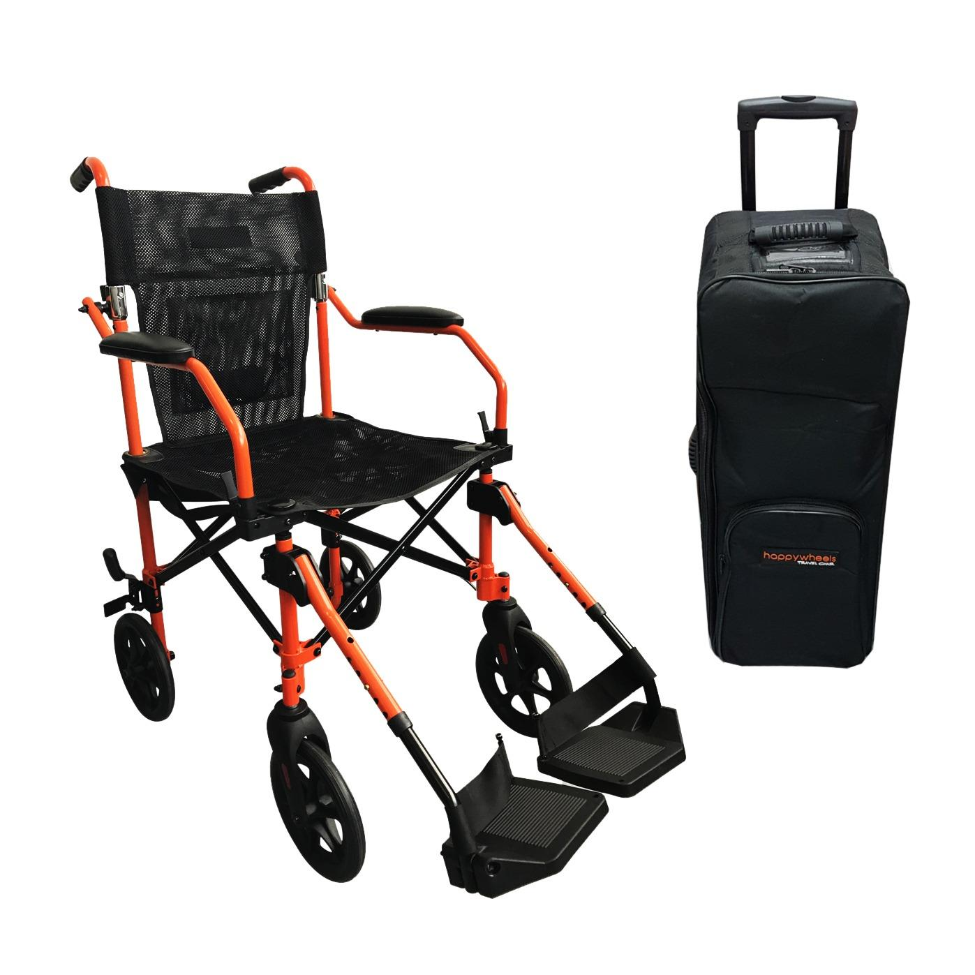 How Do I Get Happywheels Travel Chair Lightweight Portable Foldable Transport Wheelchair With Trolley Bag