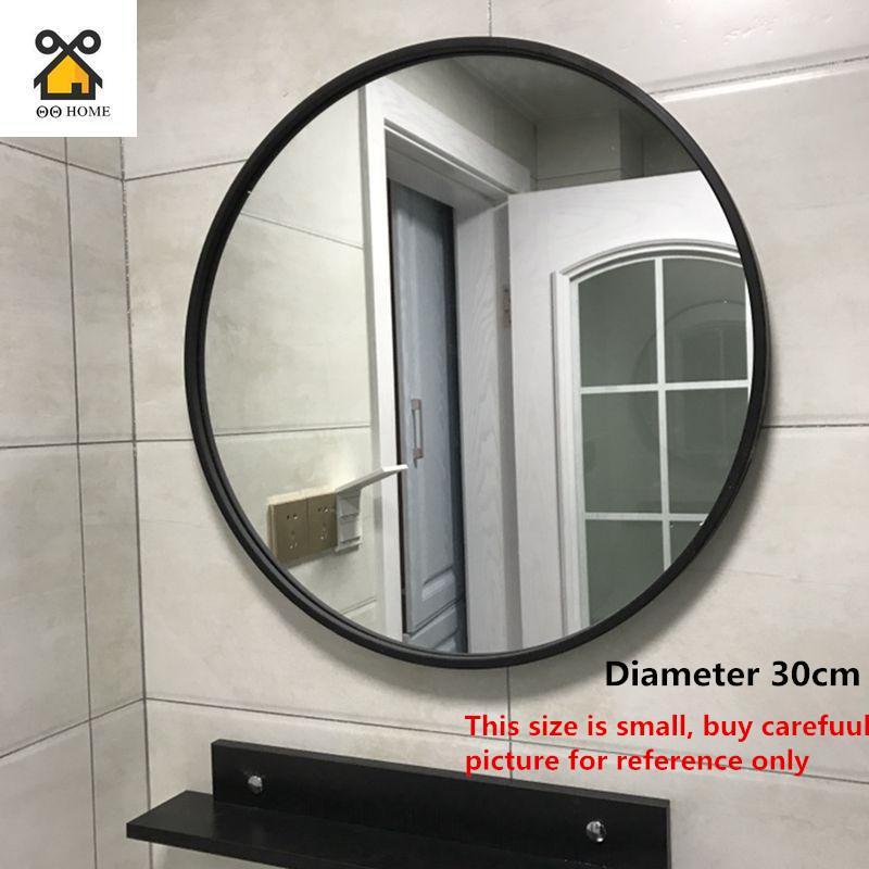 Wall Mirror Round Makeup Mirror Bathroom Round Decorative Mirror Dressing Mirror Wall Hanging Mirror(30cm