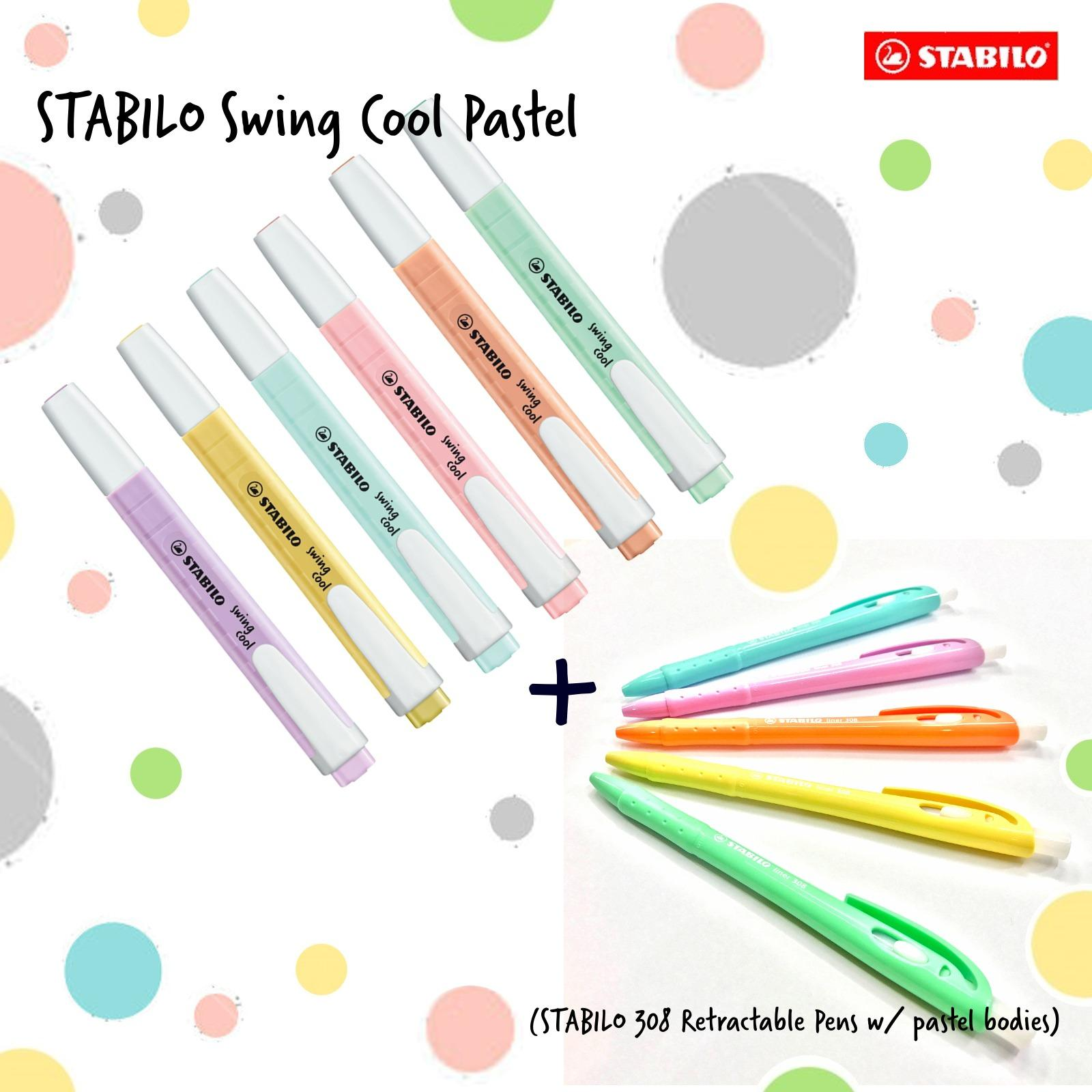 Where To Buy Stabilo Swing Cool Pastel Highlighter 6Pcs W 308 Pastel Bodied Pens 5 Pcs