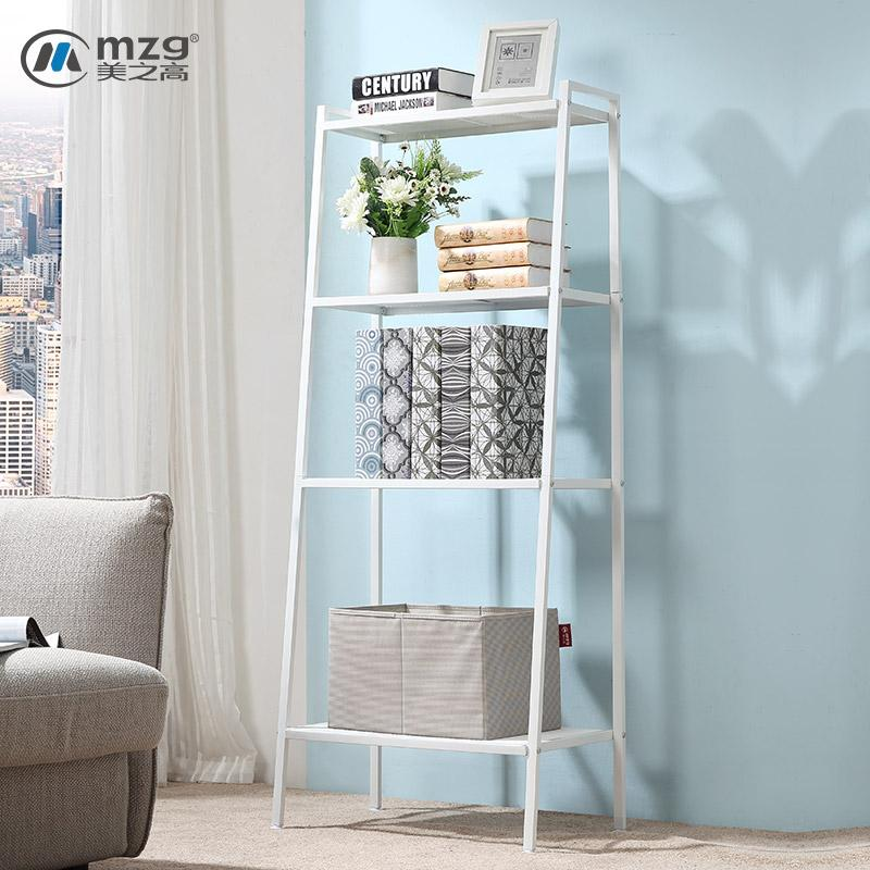 Mzg Living Room Iron Art Four Floor-to-Ceiling Shelf