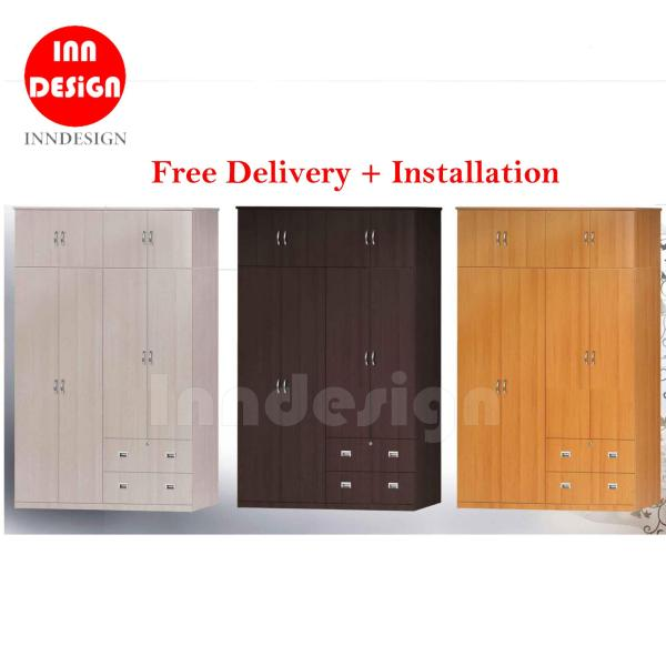 (Delivery As Usual Within 2-3 Working Days) Desli 5ft 8 Doors + 2 Drawers Wardrobe (Free Delivery & Installation)