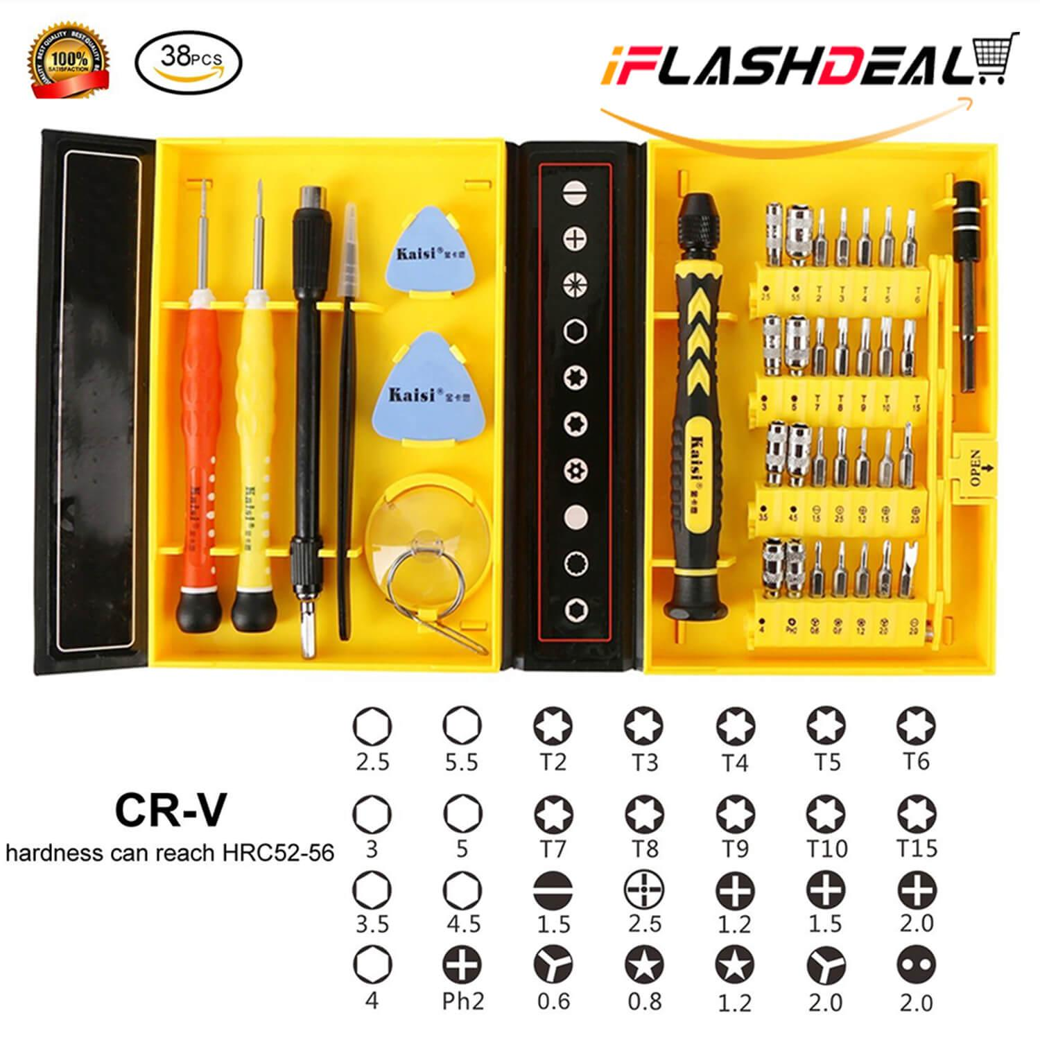 Iflashdeal 38 In 1 Precision Screwdriver Set Repair Tool Kit For Mobile Phone Computer By Iflashdeal.