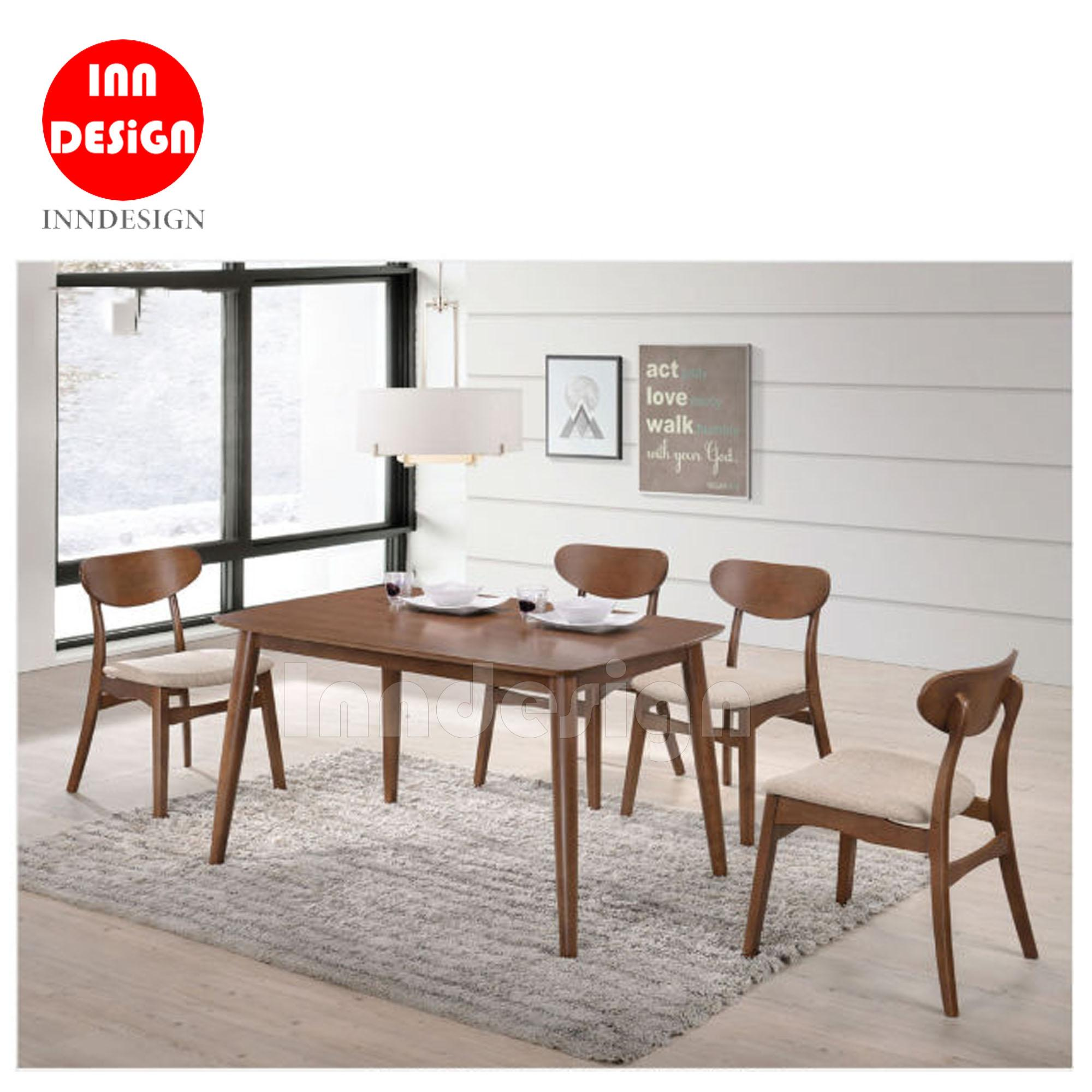 Monnie 1+4 Full Solid Wood Dining Set