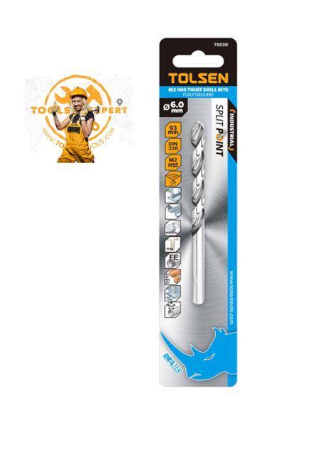 Tolsen Tools by EgHardware, 11mm M2 HSS Drill Bits 2 pcs per pkt