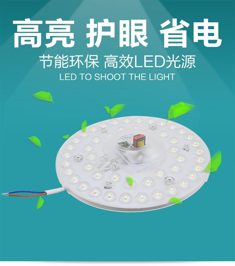 24W LED Crystal/LED Ceiling Panel Lamps175V-265V/Day Light/3 in 1 colour/Bed room/living room/bath room/saveOne
