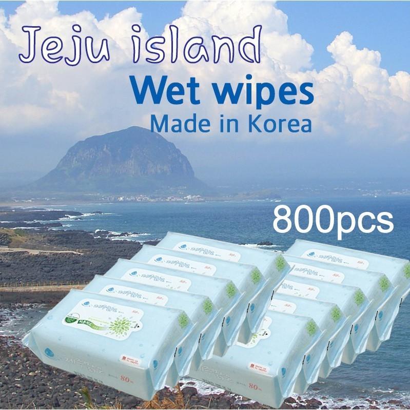 Korea Jeju Baby Wipes 10 Packs 800 Pcs Total Lower Price