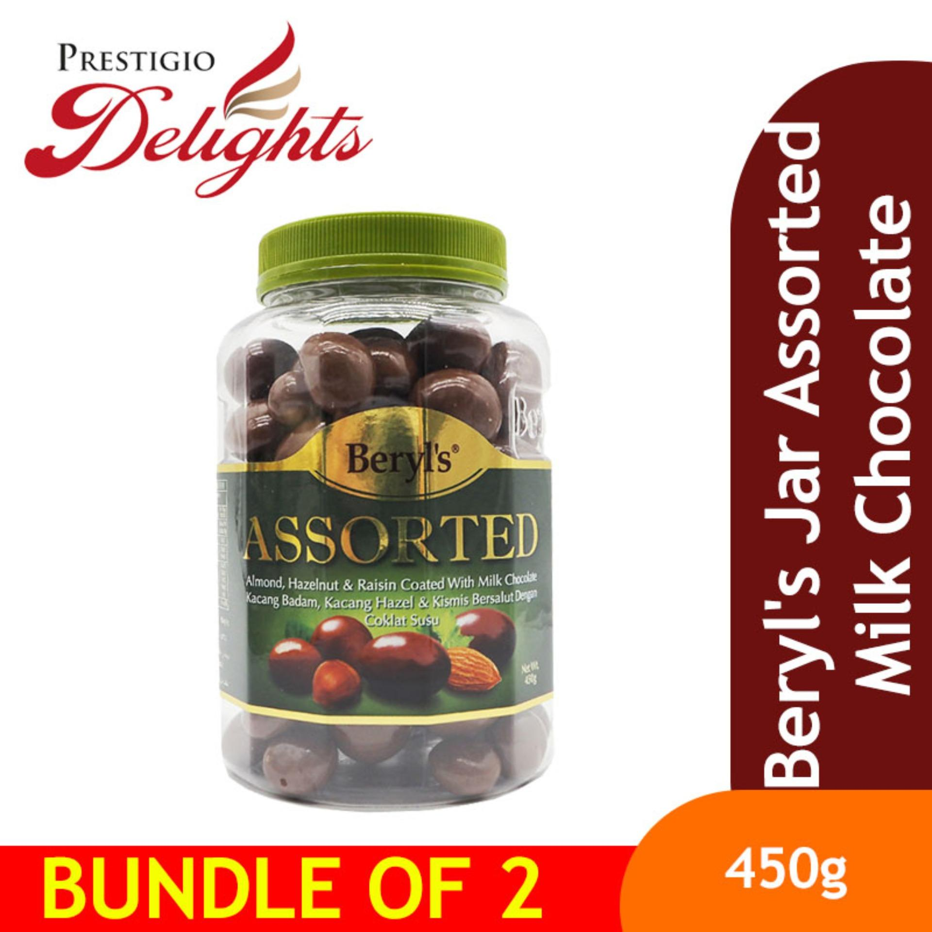Beryls Jar Assorted Milk Chocolate Bundle Of 2 By Prestigio Delights.