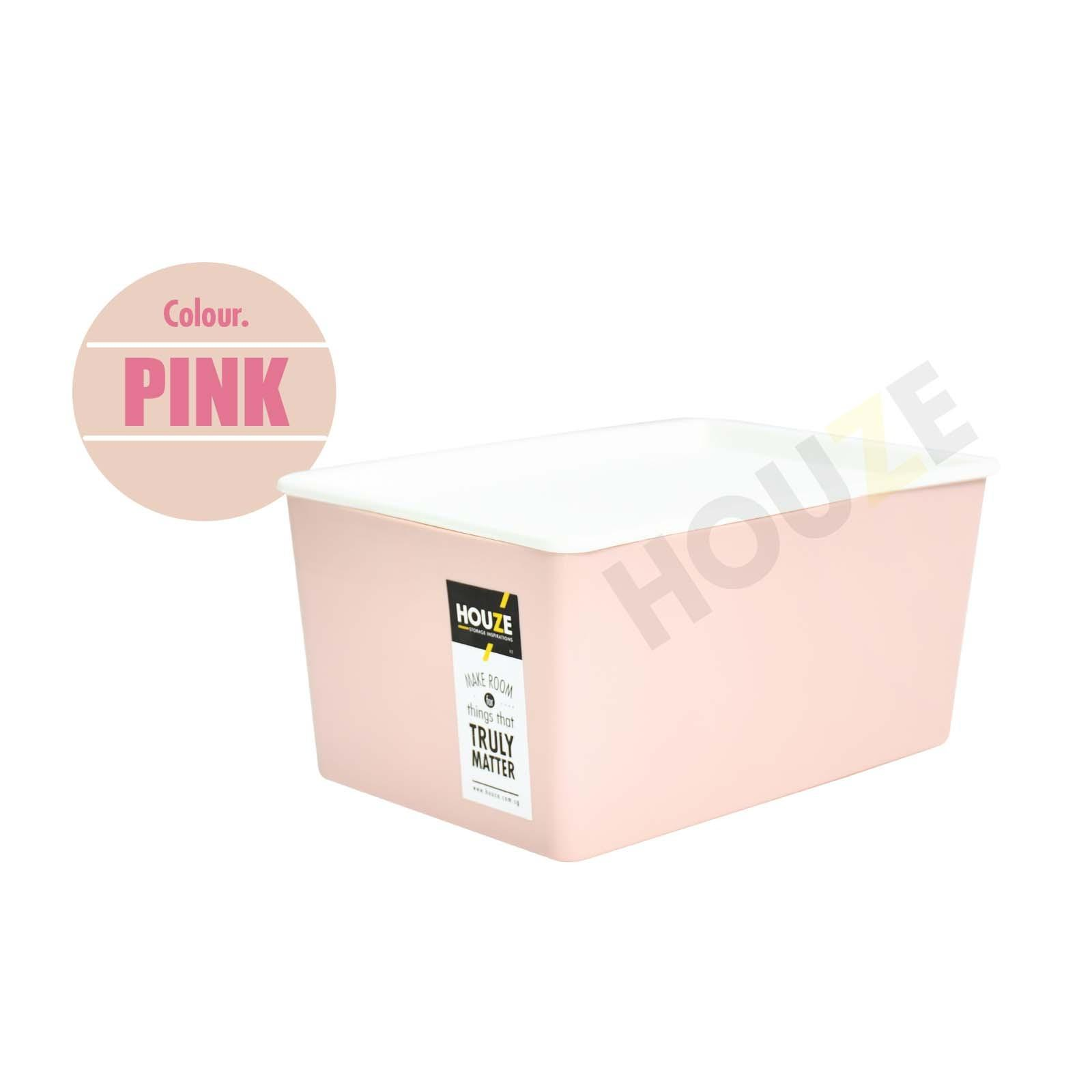 Buy Set Of 3 Houze 5L Linear Box With Lid Pink Houze Online