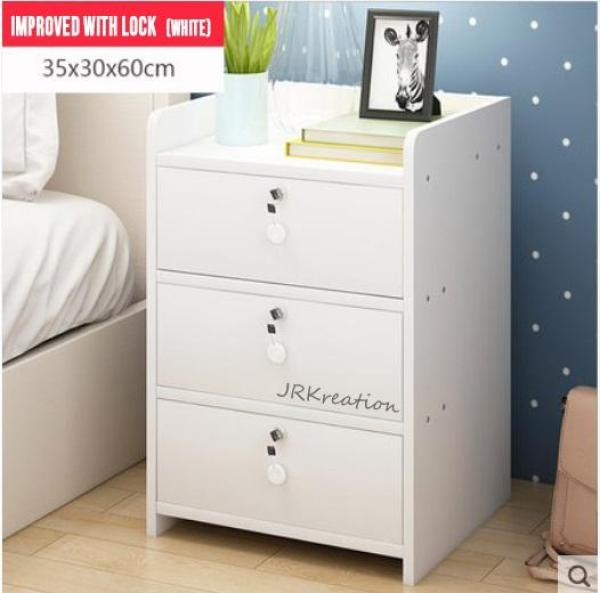 A08 Wooden Bedside Cabinet with locks - Table/Storage/Furniture