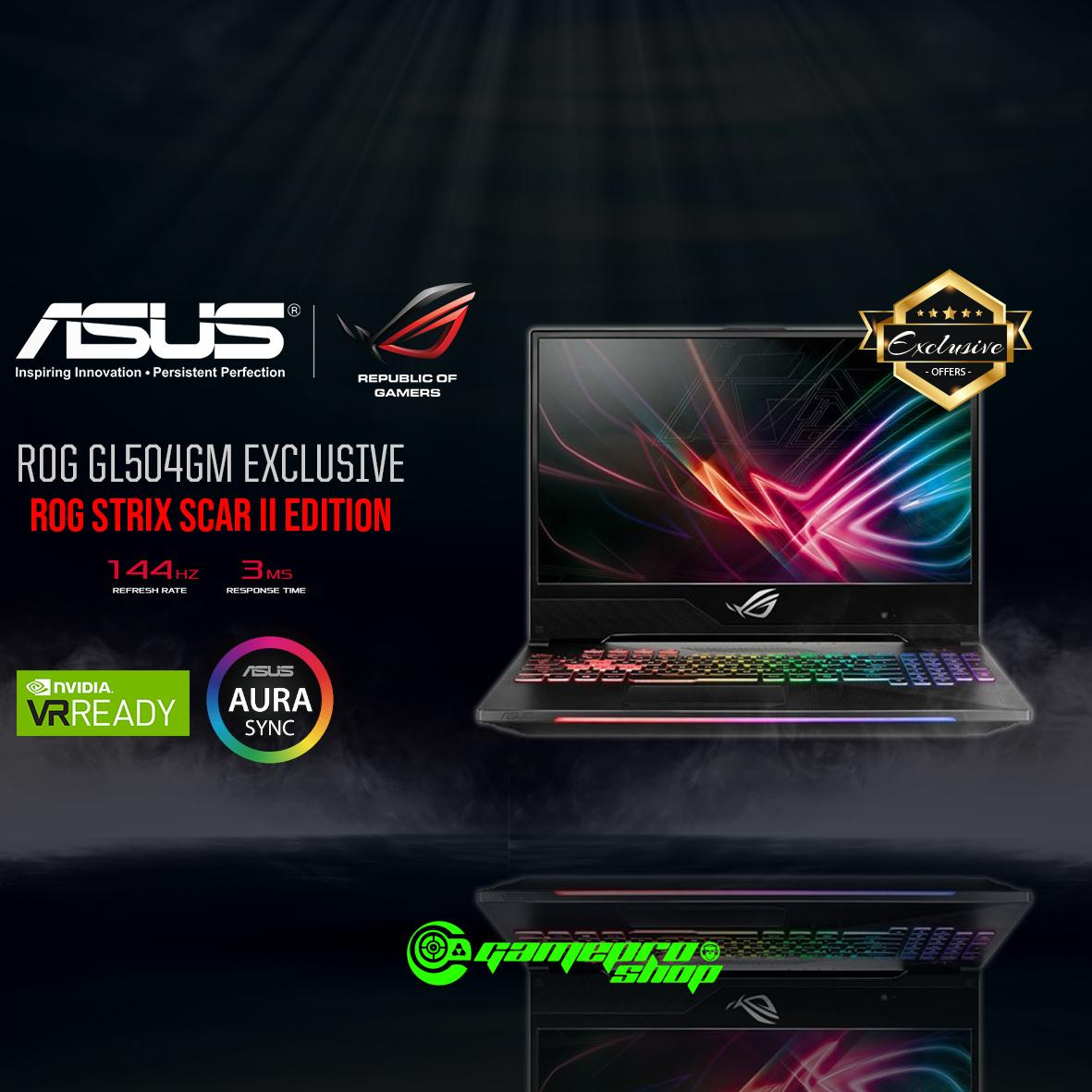 8th Gen ASUS ROG Strix SCAR II GL504GM - ES142T EXCLUSIVE ( I7-8750H / 8GB / 128GB SSD + 1TB HDD / GTX 1060 ) 15.6 WITH 144Hz GAMING LAPTOP *11.11 PROMO*